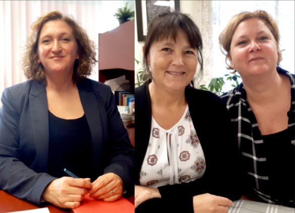 Marie-France Cummings, intervenante au CAVAC. Nathalie Leblanc et Isabelle Cyr, intervenantes au CALACS L'Espoir des Îles