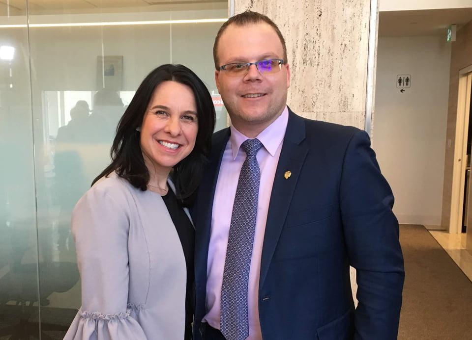 La mairesse de Montréal, Valérie Plante et le maire des Îles-de-la-Madeleine, Jonathan Lapierre